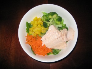 Steamed Salmon with Fresh Veggies